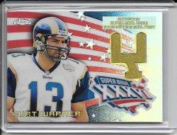 2002 Topps Chrome Super Bowl Goal Post - Kurt Warner