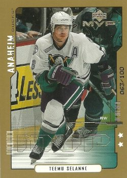 2000/01 Upper Deck MVP Second Stars Selanne