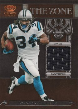 DeAngelo Williams 2011 Panini Crown The Zone Jersey