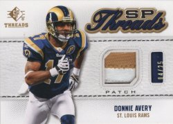Donnie Avery 2009 Upper Deck SP Threads Patch 04 of 25