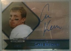 2012 Press Pass Showcase Case Keenum auto blue