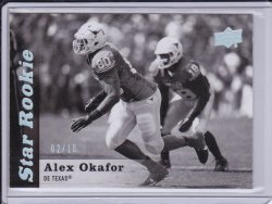 Alex Okafor 2013 Upper Deck Black and White Glossy RC /10
