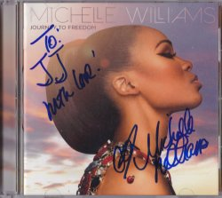 2014   Michelle Williams Journey To Freedom Signed IP Album Cover