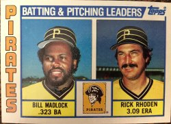 1984 Topps  Pirates - Batting and Pitching Leaders