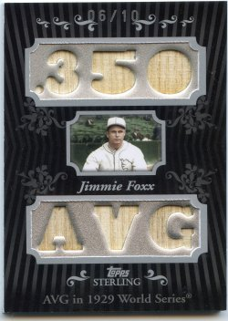 2008 Topps Sterling Jimmie Foxx Career Stats