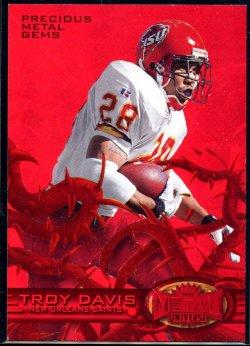 1997 Fleer Metal Universe Precious Metal Gems Red Troy Davis