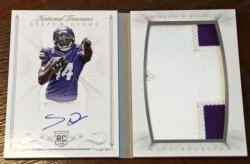 2015 Panini National Treasures Stefon Diggs Booklet Auto Patch