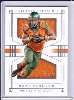 Duke Johnson 2016 Panini National Treasures Collegiate /99