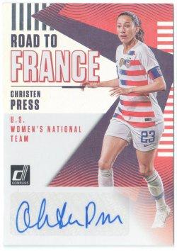 2019 Donruss Road to France Autographs Christen Press