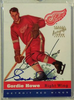 1998/99 Topps  Gordie Howe Blast from the Past autograph