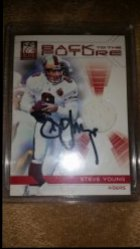 2012 Panini Elite Back To The Future Jersey Card Steve Young IP Auto