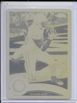 2011 Topps Chrome Yellow Printing Plate - Pierre Garcon