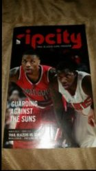 2015  Rip City Trail Blazers Game Program Damian Lilliard IP Autograph