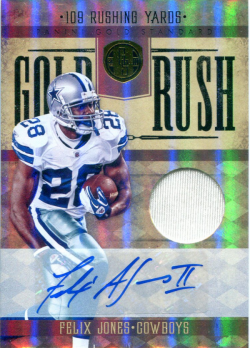 2011 Playoff Gold Standard Gold Rush Jersey Auto Felix Jones Rookie