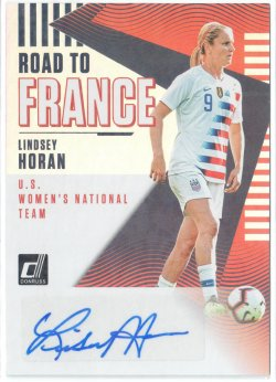 2019 Donruss Road to France Autographs Lindsey Horan