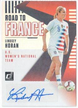 2019 Donruss Road to France Autographs Lindsey Horan