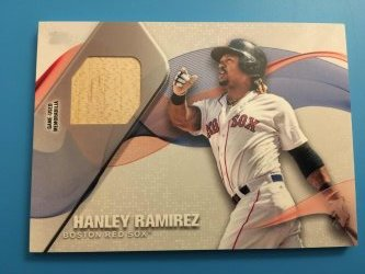 2017 Topps Series One Hanley Ramirez Major League Material Relic