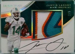 2016 Panini Immaculate Jarvis Landry premium patch auto gold