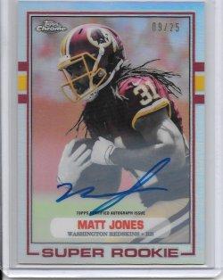 2015 Topps Chrome 1989 Refractor Autograph - Matt Jones