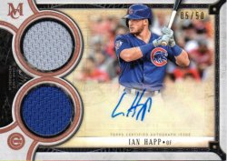 2018 Topps Museum Collection Signature Swatches Dual Relic Autographs Copper Ian Happ