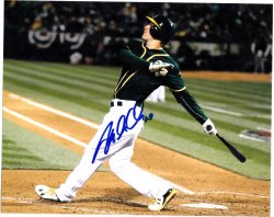 2015   Mark Canha Signed 8x10 IP Autograph