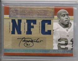 2007  Playoff National Treasure Tiki Barber Timeless Material Signature NFC Prime