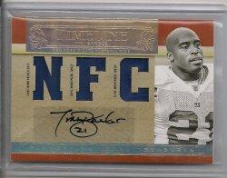 2007  Playoff National Treasure Tiki Barber Timeless Material Signature NFC Prime