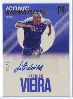 2016-17 Panini Nobility Patrick Vieira Blue Iconic Signatures Autograph