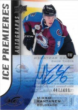 2015-16 Upper Deck Ice Premieres Autographs Mikko Rantanen