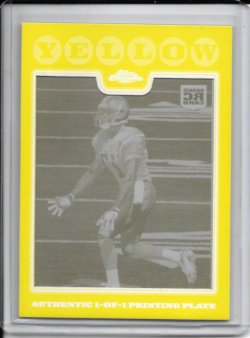 2008 Topps Chrome Yellow Printing Plate - Donnie Avery