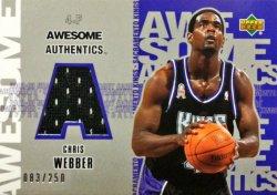2002-03  UD Authentics Awesome Authentics Chris Webber #ed 83/250