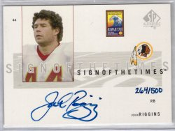 2002 Upper Deck SP Authentic John Riggins
