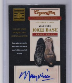 2012 Panini 2012 Panini Cooperstown Famous Moments Signatures #3 Maury Wills maury wills