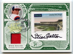 2005 Leaf Century Collection Steve Carlton Stamp Auto