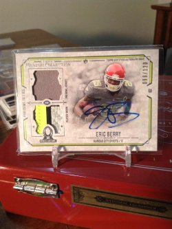 2014 Topps Museum  Eric Berry dual patch auto /120