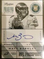 2013 Panini Prestige NFL Passport Auto Matt Barkley