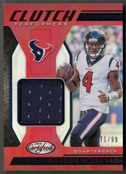 2018  Certified Clutch Performers Jerseys Mirror Red Deshaun Watson