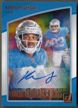 2018 Donruss Rookie Gridiron Kings Autographs Kerryon Johnson