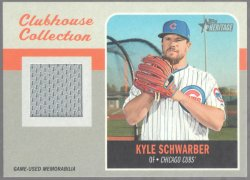 2019 Topps Heritage Clubhouse Collection Relic Kyle Schwarber