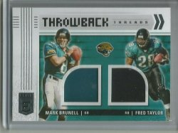 2021 Panini Donruss Elite Throwback Threads Brunell and Taylor