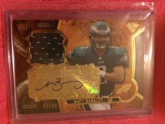 2013 Topps Triple Threads Matt Barkley Triple Threads Autograph Relic