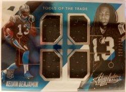 2014 Panini Absolute Tools Of The Trade Quad Relic Kelvin Benjamin