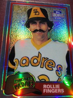 2002 Topps Archive Reserve  ROLLIE FINGERS #58/100 #229 1982 RePrint SD Padre As AllStar RHP