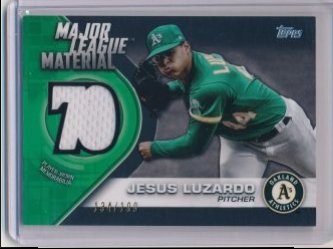 Jesus Luzardo 2021 Topps Major League Material Relics Black /199