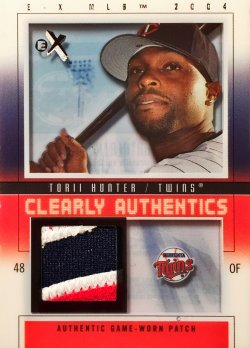 2004  E-X Clearly Authentics Patch Black Torii Hunter