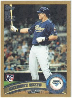 2011 Topps Update Gold Anthony Rizzo