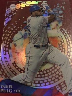 2014 Topps HIGH TEK  YASIEL PUIG #HT-YP Los Angeles Dodger (Wild Horse) RF CUBA