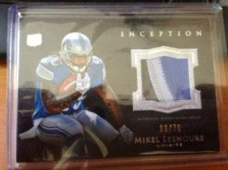 2011 Panini Inception Mikel Leshoure Patch /75