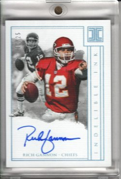 2018 Panini Impeccable Rich Gannon Indelible Ink On Card Auto