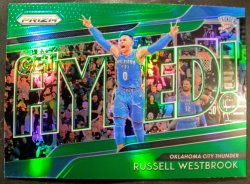 2018-19 Panini  Prizm Get Hyped! Green Russell Westbrook